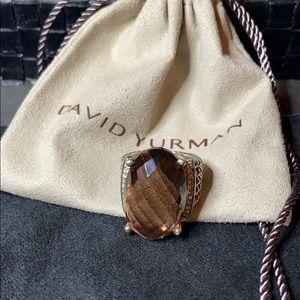 David Yurman Morganite Wheaton 16X26 Ring 6.75